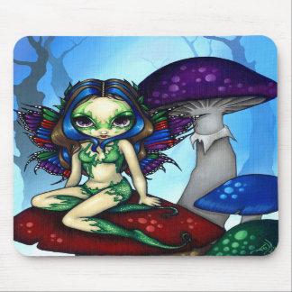 """""""Masked Fairy on the Mushrooms"""" Mousepad"""