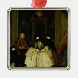 Masked Figures in a Venetian Coffee House Christmas Ornament