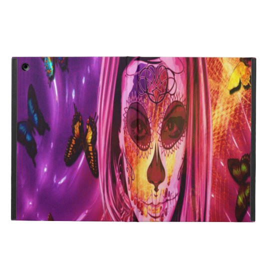 Masked girl in cosmic butterflies Ipad case