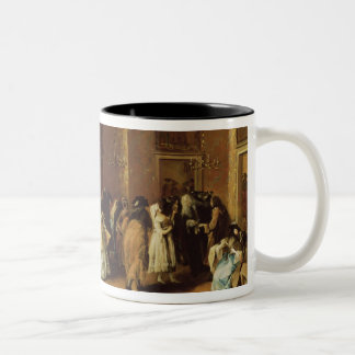 Masked Meeting Two-Tone Coffee Mug