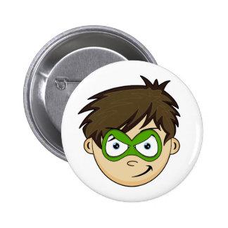 Masked Superboy Hero Pinback Buttons