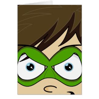 Masked Superboy Hero Card