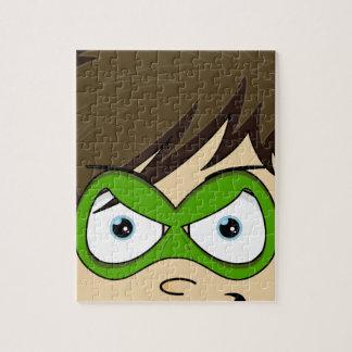 Masked Superboy Hero Jigsaw Puzzle