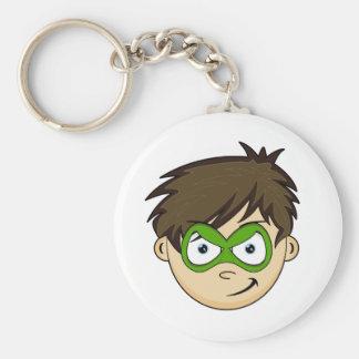 Masked Superboy Hero Keychain