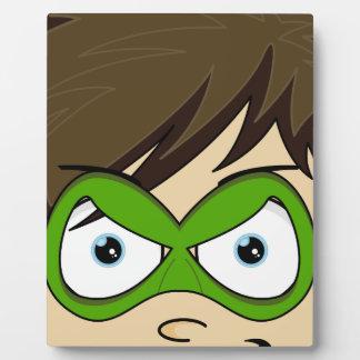 Masked Superboy Hero Plaque