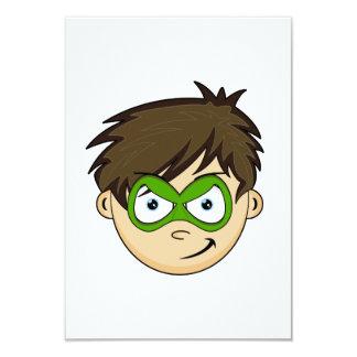 """Masked Superboy Hero RSVP Card 3.5"""" X 5"""" Invitation Card"""