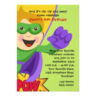 Masked Superhero Birthday Invitation