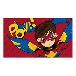 Masked Superhero Bookmark Business Card Template
