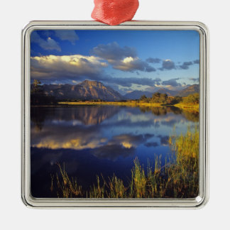 Maskinonge Lake in Waterton Lakes National Park 3 Christmas Ornament