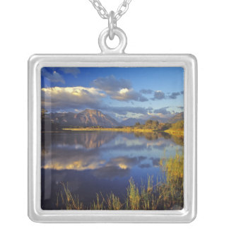 Maskinonge Lake in Waterton Lakes National Park 3 Silver Plated Necklace