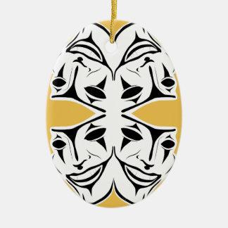 Masks Ceramic Oval Decoration