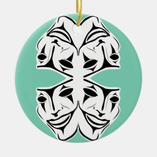 Masks Round Ceramic Decoration