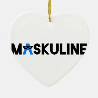 MASKULINE CERAMIC HEART DECORATION