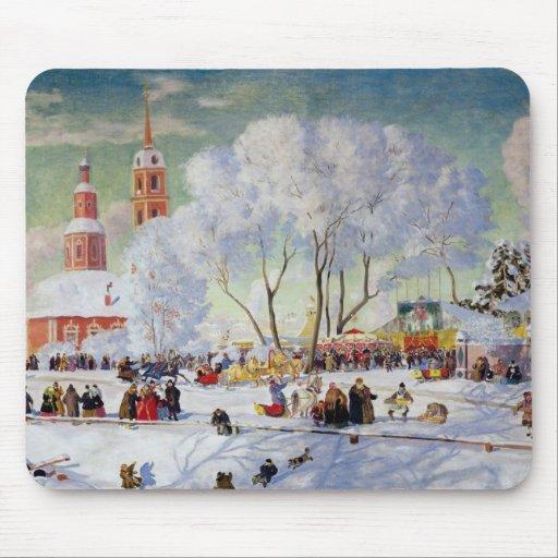 Maslanitsa -Butter Week Winter Holiday Mousepads