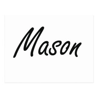 Mason Artistic Name Design Postcard