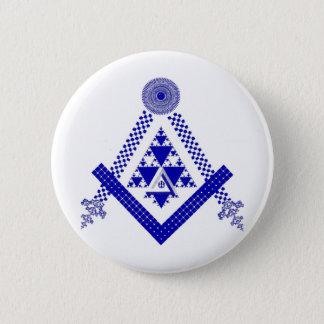 Mason Fractal 6 Cm Round Badge