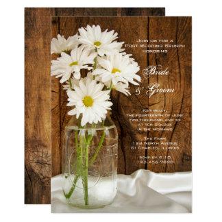 Mason Jar and Daisies Country Post Wedding Brunch 13 Cm X 18 Cm Invitation Card
