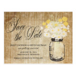 Mason Jar and Daisies Save the Date
