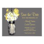 Mason Jar and Daisies Save the Date 13 Cm X 18 Cm Invitation Card