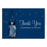 Mason Jar and Fireflies Greeting Cards
