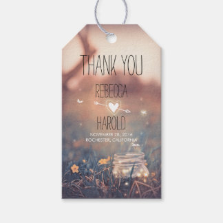 Mason Jar and Fireflies Rustic Wedding Thank You