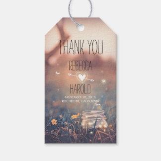 Mason Jar and Fireflies Rustic Wedding Thank You Gift Tags