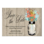 Mason Jar and Wildflowers Save the Date Personalised Invites