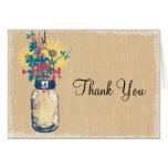 Mason Jar and Wildflowers Thank You