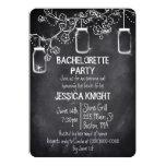 Mason Jar Chalkboard Bachelorette Party Invitations