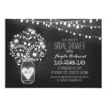 mason jar chalkboard & lights bridal shower 13 cm x 18 cm invitation card