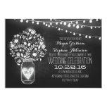 mason jar chalkboard string lights wedding invites
