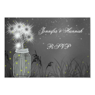 "Mason Jar, Chalkboard, White Wedding Invitation 3.5"" X 5"" Invitation Card"