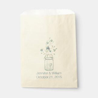 Mason Jar Custom Wedding Favor Bag