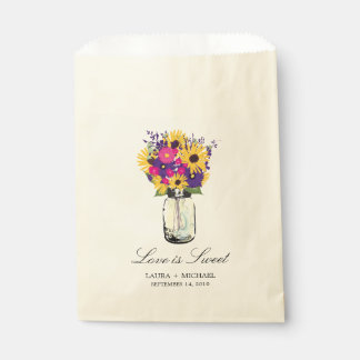 Mason Jar Daisies and Sunflowers | Favors Favour Bags