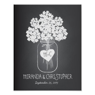 Mason Jar Family Established Marriage Poster