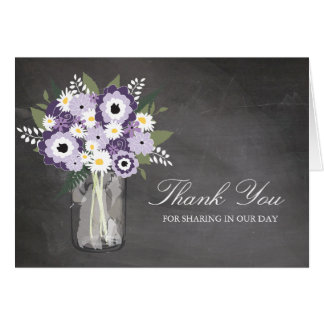 Mason Jar filled with Wilflowers Cards