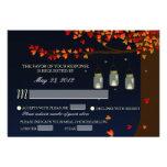 Mason Jar Fireflies Oak Tree RSVP [Meal Options] Personalised Announcement