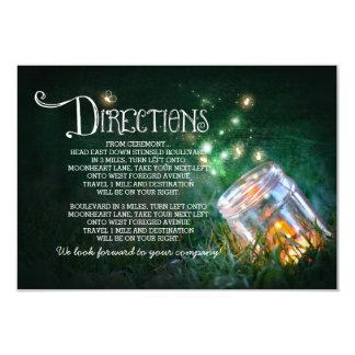 mason jar fireflies wedding directions card 9 cm x 13 cm invitation card