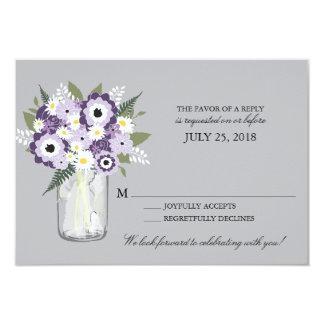 Mason Jar Floral | RSVP Invite