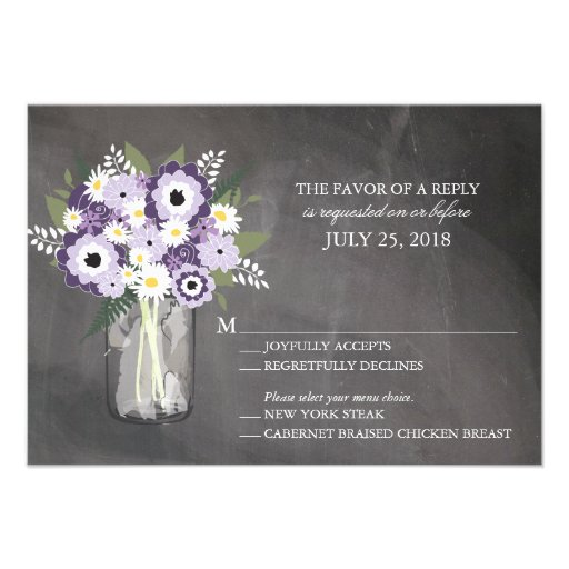 Mason Jar Floral | RSVP Personalized Invites