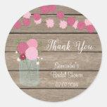 Mason Jar Flowers Bridal Shower Sticker