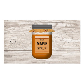 Mason Jar Maple Syrup Hang Tag Pack Of Standard Business Cards