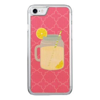 Mason Jar Of Lemonade Quatrefoil Carved iPhone 8/7 Case