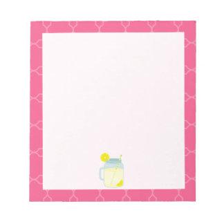 Mason Jar Of Lemonade Quatrefoil Memo Notepads