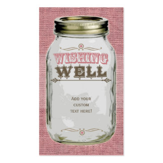 Mason Jar Pink Wishing Well Pack Of Standard Business Cards