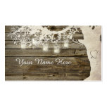 Mason Jar String Lights Rustic Tree Place Card Pack Of Standard Business Cards