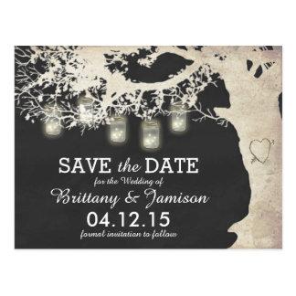 ... Save Date Postcards, Mason Jar Lights Save Date Postcard Templates