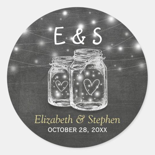 Mason Jar String Lights Wedding Favour Thank You