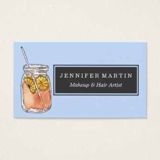 Mason Jar Summer Sun Ice Tea in Watercolor