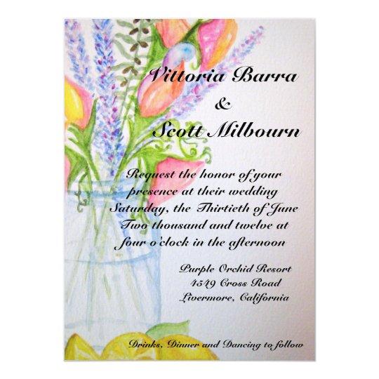 Mason Jar Wedding Invitation #2